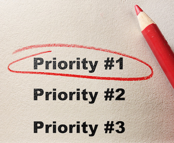 Image of Priority #1 circled with red pencil