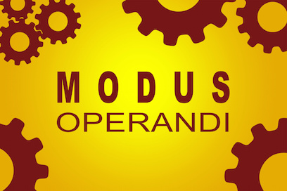 Image of sign saying Modus Operandi