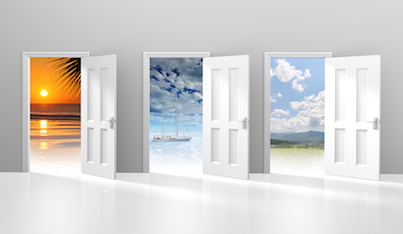 Image of Choice of doors opening