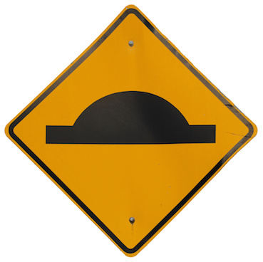 Image of traffic sign for speed hump