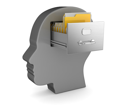 Image of filing drawer in the mind