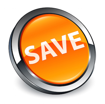 Image of a Save button