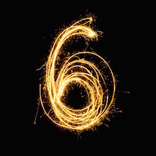 Image of Sparkler firework light number 6