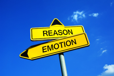 Image of road signs for Reason and Emotion pointing in different directions