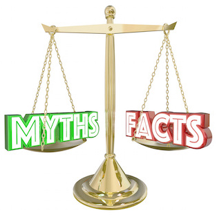 Image of a scale weighing myths versus facts