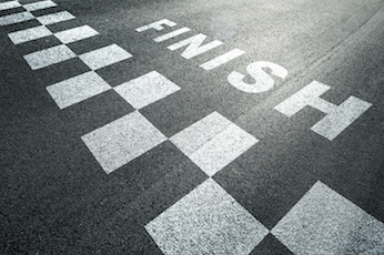 Image of a finish line