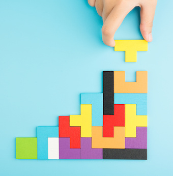 Image of interlocking puzzle blocks