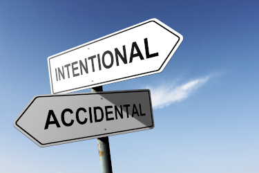 Image of Signs saying Intentional and Accidental