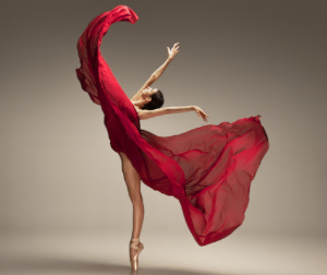 Dancer Holding a Graceful position